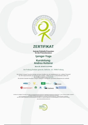 Zertifikat Iyengar-Yoga