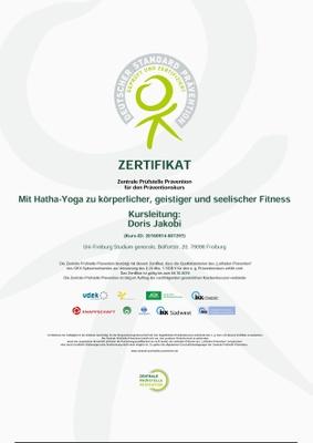 Zertifikat Mit Hatha Yoga zu körperlicher, geistiger und seelischer Fitness